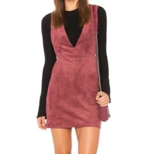 Endless Rose Overall Suede Dress